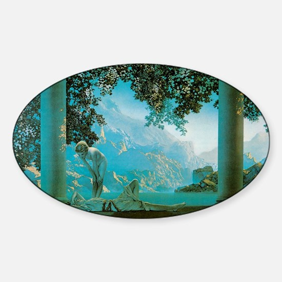 Maxfield Parrish Daybreak Sticker (Oval)