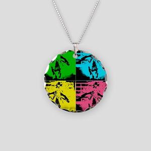 Babyflo Pop Art Necklace Circle Charm