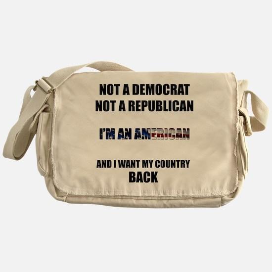 Im an American Messenger Bag