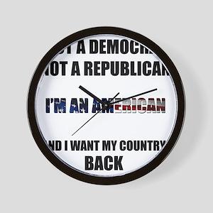 Im an American Wall Clock
