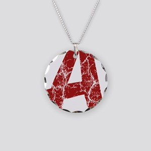 Pretty Little Liars Red A Necklace Circle Charm