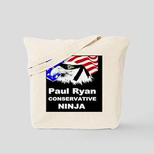 PAUL RYAN CONSERVATIVE NINJABUTTON Tote Bag