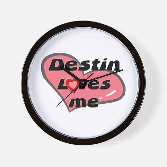 destin loves me  Wall Clock