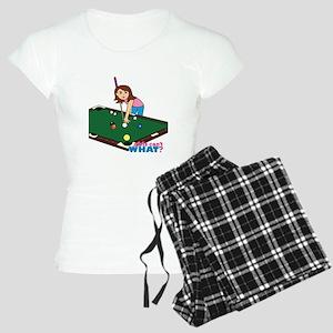 Girl Playing Billiards Women's Light Pajamas