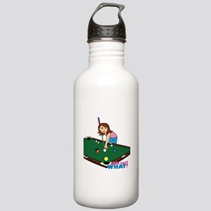 Girl Playing Billiards Stainless Water Bottle 1.0L
