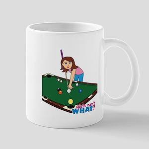 Girl Playing Billiards Mug