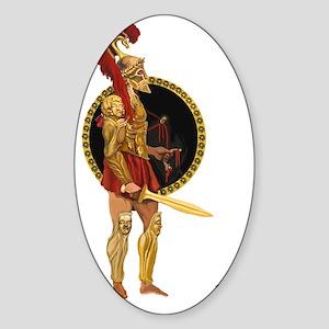 GREEK WARRIOR Sticker (Oval)