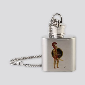 GREEK WARRIOR Flask Necklace