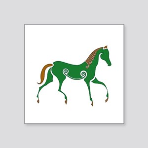 "Celtic Horse Square Sticker 3"" x 3"""