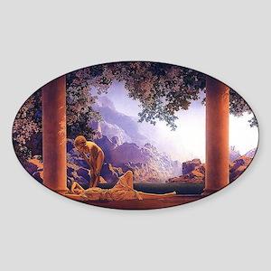 Maxfield Parrish Daybreak Sticker (Oval)