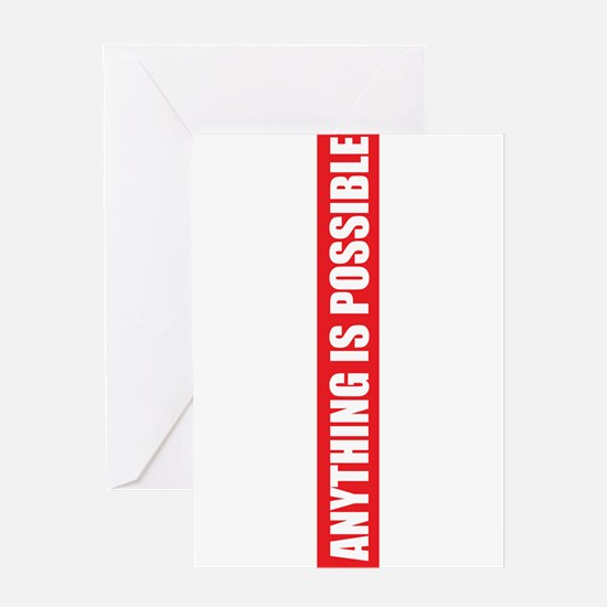 Think big white and red Greeting Card