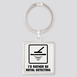 metalDetct4A Square Keychain
