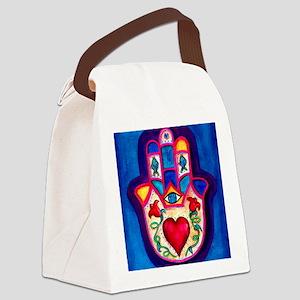 Heart Hamsa by Rossanna Nagli Canvas Lunch Bag