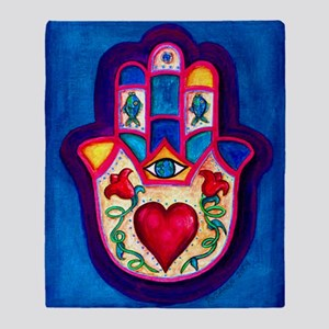 Heart Hamsa by Rossanna Nagli Throw Blanket