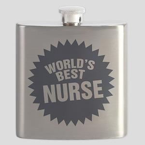 Worlds Best Nurse Flask
