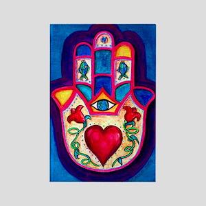Heart Hamsa by Rossanna Nagli Rectangle Magnet