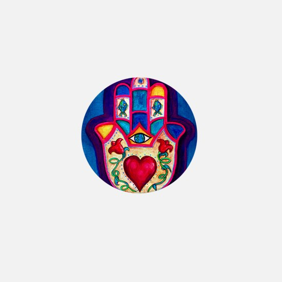 Heart Hamsa by Rossanna Nagli Mini Button