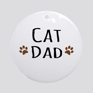 Cat Dad Ornament (Round)
