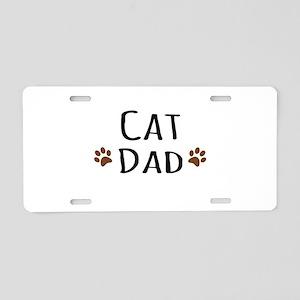 Cat Dad Aluminum License Plate