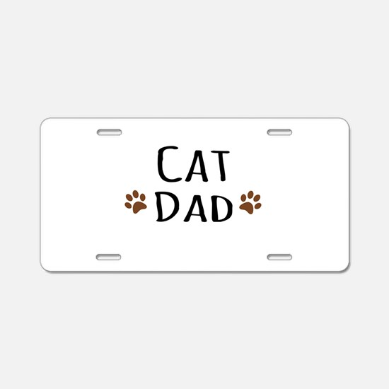 Cat Dad Aluminum License Plate