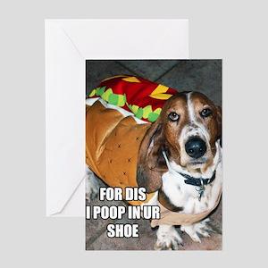 Grumpy Basset Greeting Card