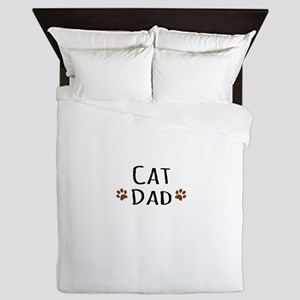 Cat Dad Queen Duvet