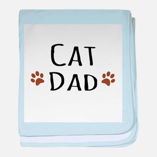Cat Dad baby blanket