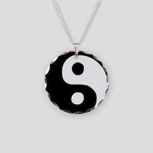 Yin Yang Love Necklace Circle Charm