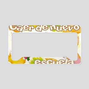 Fall Back to School SPANISH License Plate Holder