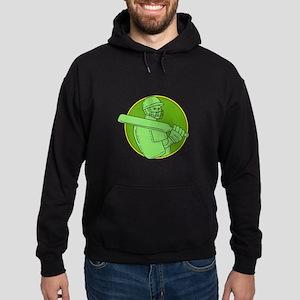 Cricket Player Batsman Circle Mono Line Sweatshirt
