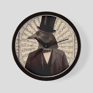 Victorian Steampunk Gentleman Crow Wall Clock