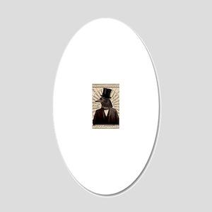 Victorian Steampunk Gentlema 20x12 Oval Wall Decal