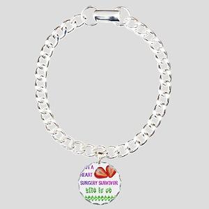 HeartSurgerySurvivor Charm Bracelet, One Charm