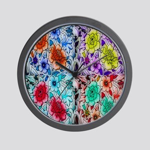 Orion Flower Collage Wall Clock