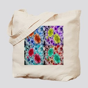 Orion Flower Collage Tote Bag