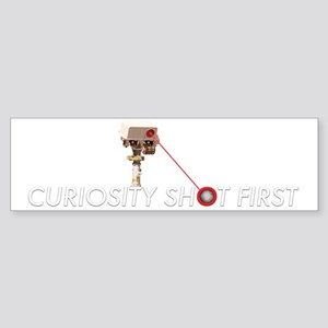 Curiosity Shot First Sticker (Bumper)
