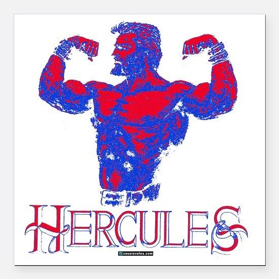 """Hercules Square Car Magnet 3"""" x 3"""""""