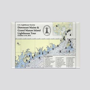 Downeast Maine Lighthouse Tour Rectangle Magnet
