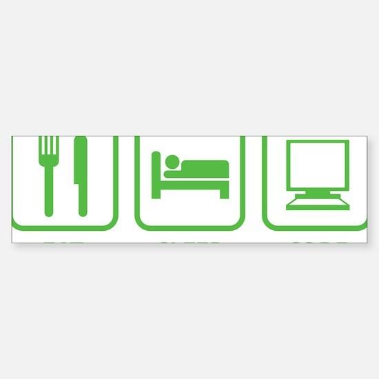 eatSleepCode1C Sticker (Bumper)