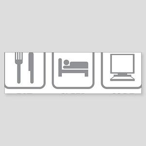 eatSleepCode1D Sticker (Bumper)
