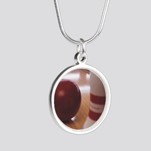 Bowling Alley Silver Round Necklace