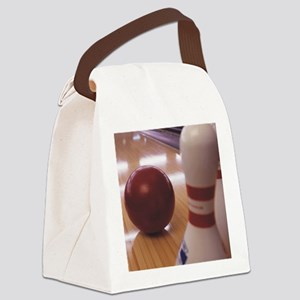 Bowling Alley Canvas Lunch Bag