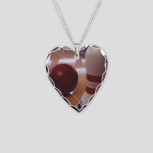 Bowling Alley Necklace Heart Charm