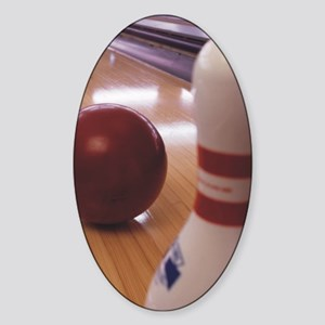 Bowling Alley Sticker (Oval)