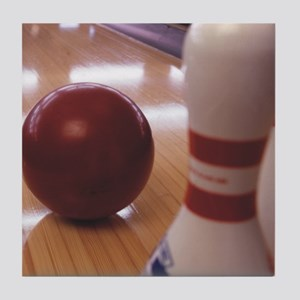 Bowling Alley Tile Coaster