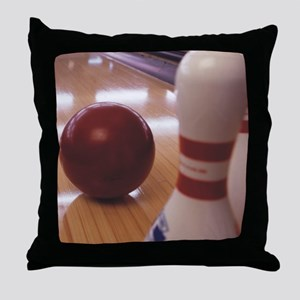 Bowling Alley Throw Pillow
