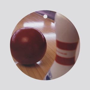 Bowling Alley Round Ornament