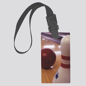 Bowling Alley Large Luggage Tag