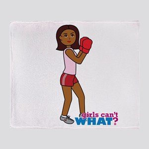 Boxer Girl Throw Blanket
