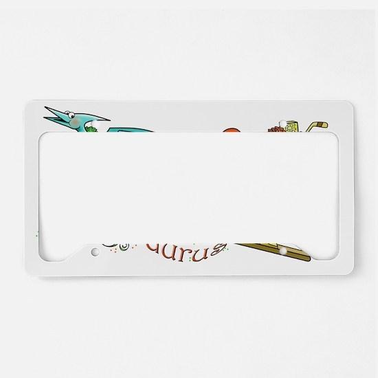 Santasaurus License Plate Holder